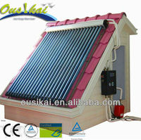 Split pressurized solar water heater with pump, controller, expansion tank