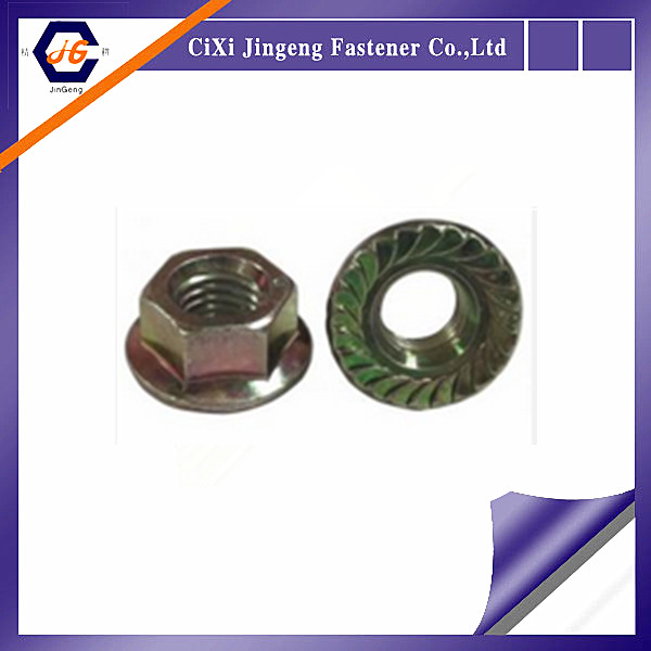DIN 6923 flange hex nuts with superior properties with galvanize