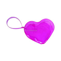Custom heart shape PVC zip bag
