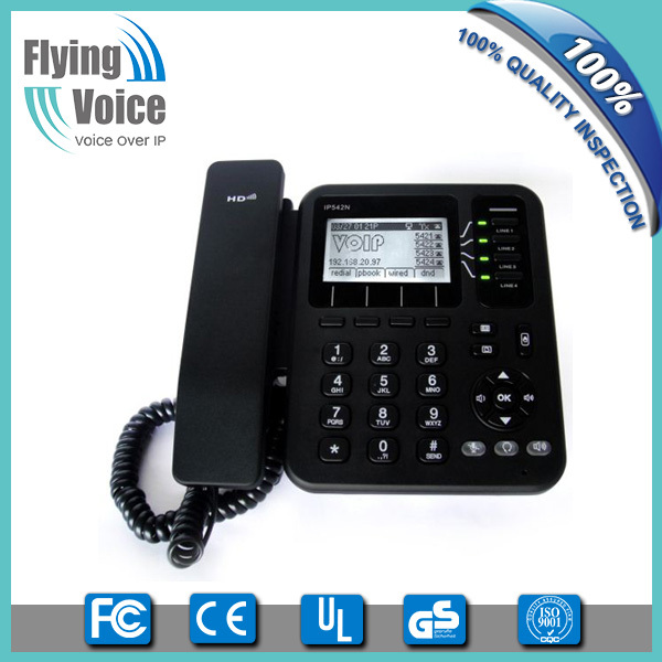 low cost free voip software phone sip proxy server phone with pptp/12tp/vpn IP542N