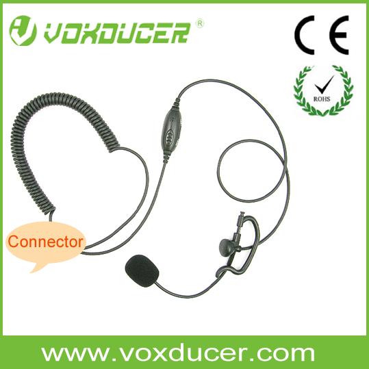 [EVS1321] Vox/ PTT switch PTT Ear hook headset/ Boom mic headset with push to talk button for Motorola Kenwood Icom intercome
