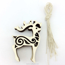 unfinished carved wood craft chinese christmas ornament