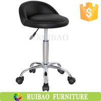 High Quality Adjustable Swivel PU Leather Medical Adjustable Stool with Wheels
