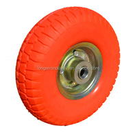 Wholesale pu wheel barrow tire 4.00 - 8 assembled with 5 bolts