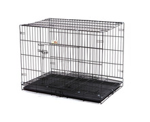 Stock iron pet cages,carriers and house Door Folding Metal Dog Crates for different size
