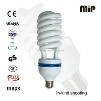 high quality half spiral 65W E27 6500K energy saving lamp factory