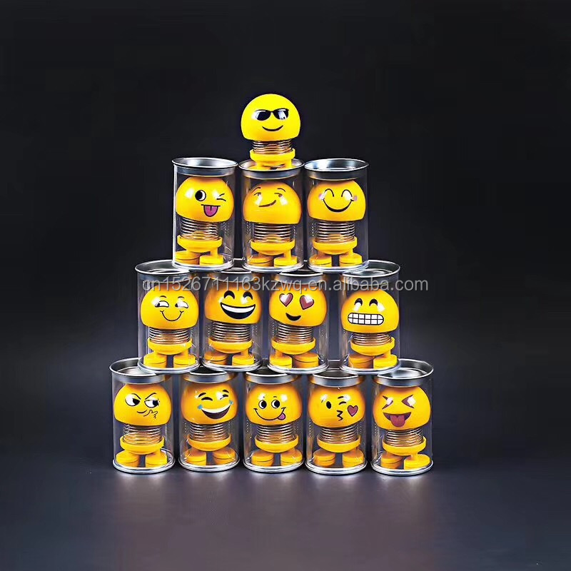 2019 Popular shaking head toy Smiling Face Spring Bouncing <strong>Doll</strong> Car Smiley <strong>Doll</strong> Desktop <strong>Dolls</strong> For Car Decorate