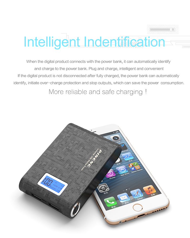 High safety performance Portable fast charging mobile phone mi Power Banks 10000 mah