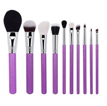 beauty needs professional mini fan brochas maquillaje wooden 7 piece head 10pcs 32 pieces kabuki goat hair makeup brush set
