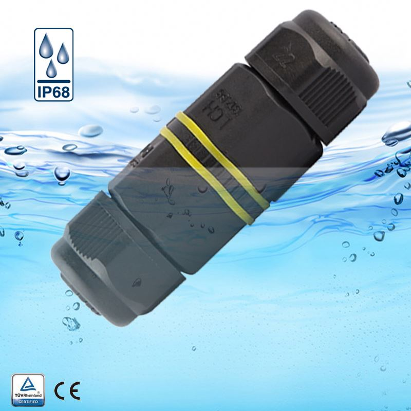 91027 IP68 Waterproof underground screw electrical connector 3pin cable to cable