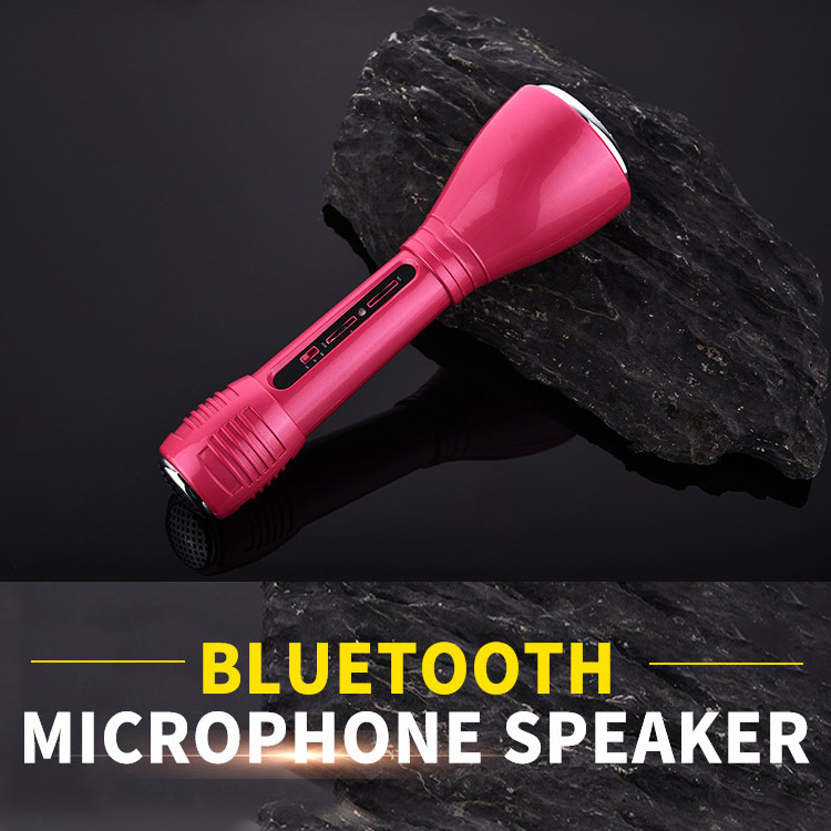 Portable mini wireless bluetooth amplifier stereo KTV karaoke player speaker system condenser microphone
