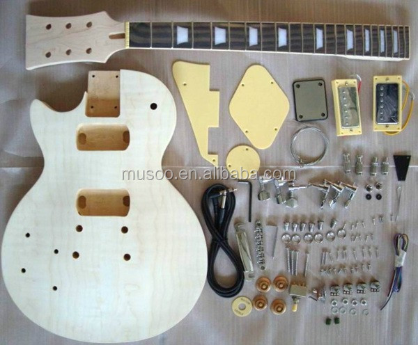PROJECT ELECTRIC GUITAR BUILDER KIT DIY WITH ALL ACCESSORIES For LEFT HANDED STYLE( K22)
