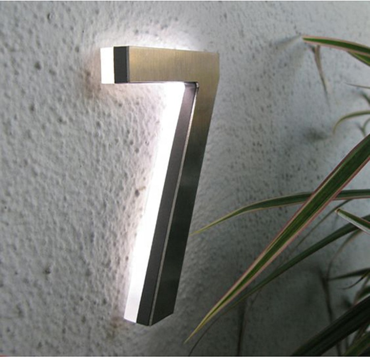 Laser Cut Stainless Steel Letter <strong>Signs</strong> Led Acrylic Backlit House Numbers