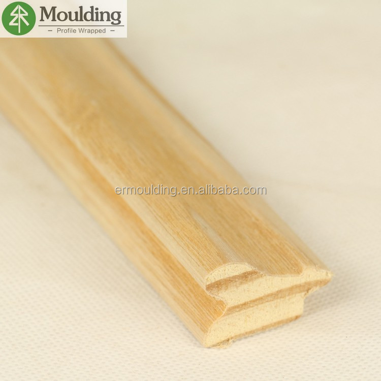wood veneer coated Radiata pine finger joint wood frame