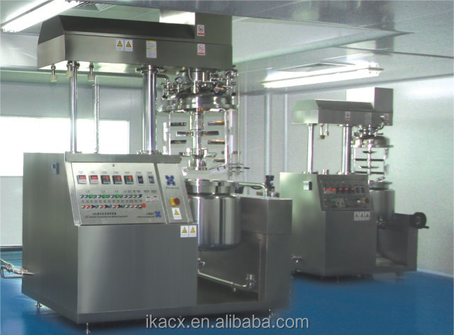 Vacuum homogenizer mixer for toothpaste raw materials