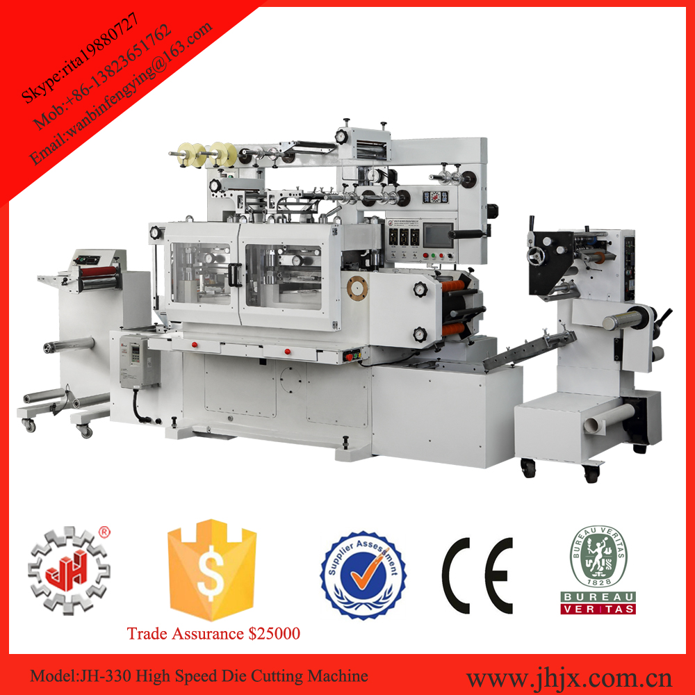 25000times/hour high speed woven roll to roll rotary die cutting machine manufacturer
