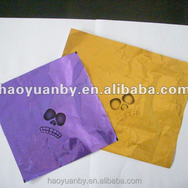 printed foil paper for sweet and candy packing wrapping