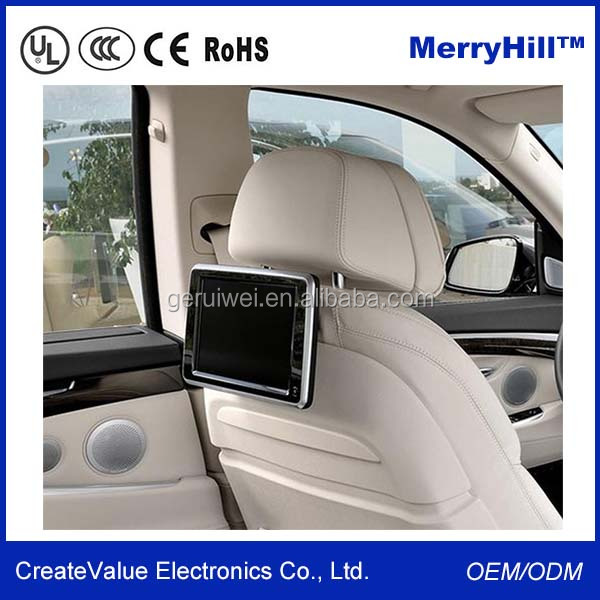 Car Back Seat LCD Advertising Monitor 9 inch 10 inch Portable DVD Player With TV FM USB