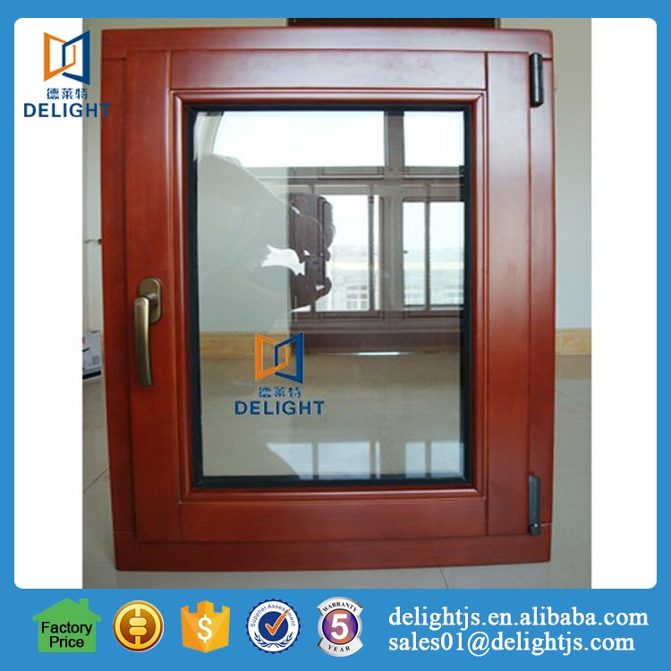 Online shopping aluminum clad wood hinged window and door for buildings