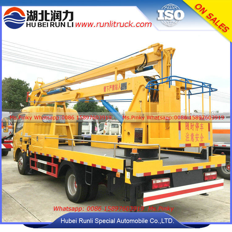 Hubei Runli 18m Aerial Working Truck, Right Hand Drive or Left Hand Drive Aerial Platform Trucks