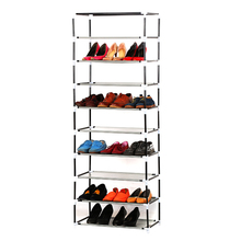 High quality non-woven fabirc folding tall shoe 9 layer Shoe racks with steel tube