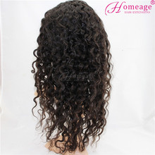 Homeage natural unprocessed wholesale brazilian remy virgin human hair full lace wig with baby hair