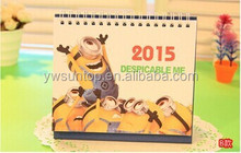 Hot sale Minions printable desk calendar 2015 creative diy calendar