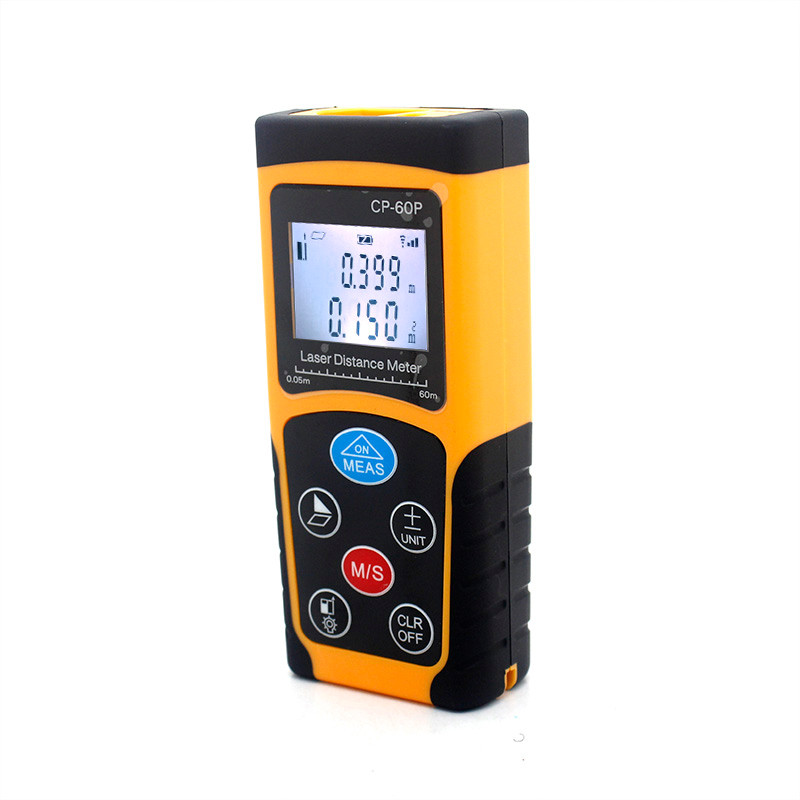 High accuracy 1.5mm measure range distance calculator 60m cheap laser distance meter