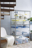 1601L- Home Using 4 Tiers Heavy Duty Chrome Storage Shelving Rack