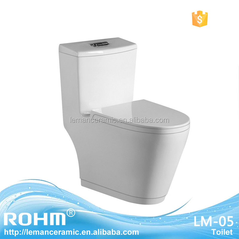 LM-05 Bathroom Ceramic Sanitary Ware Siphonic One-piece Toilet