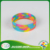 One Direction silk rpint thin rainbow color rubber silicone wristband silicone bracelet