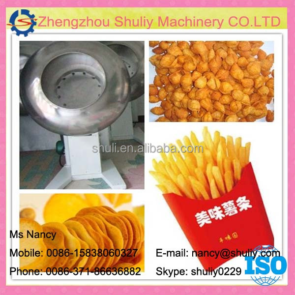 Low price Octagonal snack food flavoring machine/disk fried peanuts seasoning machine 0086-15838060327