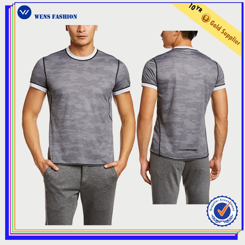 High Quality Wholesale Custom Army Blank Mens Camo T