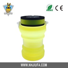 Waterproof Solar LED Camping Lantern With Foldable Silicone Bottle