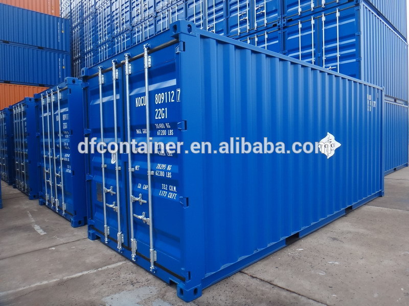 20ft GP /40ft GP ISO Blue Painted Offshore Cargo Shipping Containers
