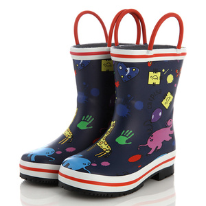 Hot sale animol print rubber rain boots boots for kids