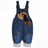 Newborn baby vogue overalls double shoulder strap jeans
