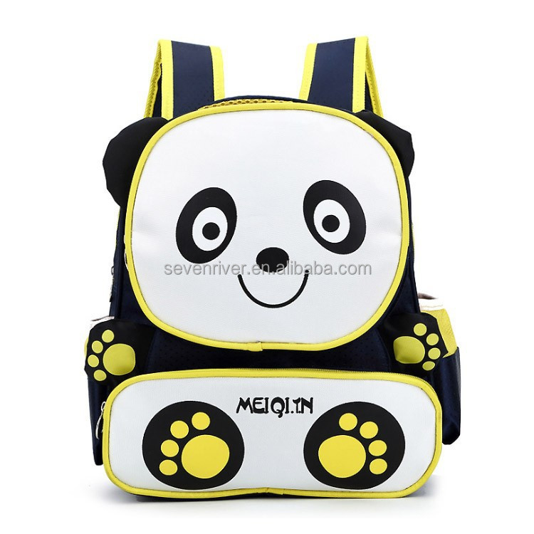 Hot sale cute panda kids zoo animal backpack for school bag