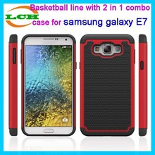 Basketball line with 3 in 1 combo design cell phone case cover for samsung galaxy E7