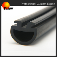 made in China durable heat resistant rubber D profile, extruded rubber seal, rubber profile