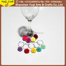 Wholesale Plastic Rose Wine Charms Souvenir Wholesale Wine Charms