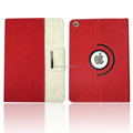 newest hot fashion 360 rotating pu leather case rose pattern colour mixture with magenetic button stand for ipad air