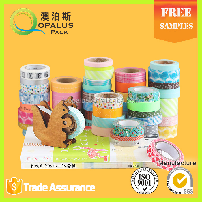 Multifunctional pretty garner washi tape printed denver washi tape printed kraft tape