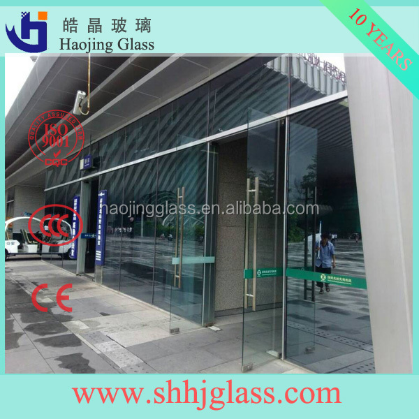 Curved Clear Float Glass Prices/Glass Wall Prices
