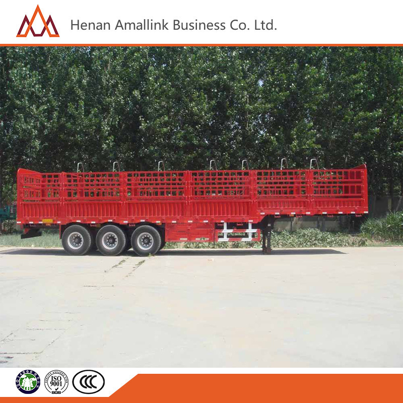 China golden supplier Three Axle Gooseneck Stake Semi Trailer/ Fence Trailer
