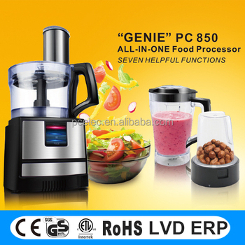 500W Multifunctional food processor with meat grinder and 100% copper motor