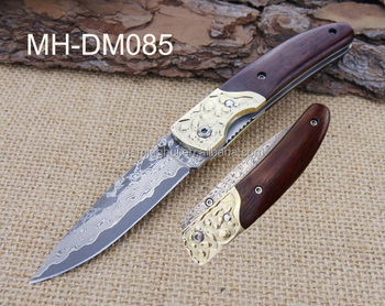 Best selling damascus steel pocket knife