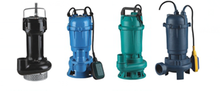 High Pressure WQD Sewage Submersible Pump With Float Switch Stainless Steel
