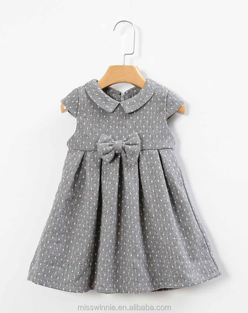 Hot selling modern sleeveless baby girls winter dress