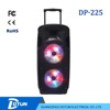 2015 double 12 inch Rechargeable battery portable power speaker with bluetooth DP-225